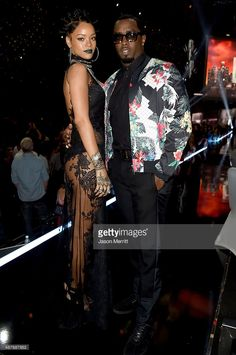 Recording artists Rihanna (L) and Sean 'Diddy' Combs backstage at the 2014 iHeartRadio Music Awards held at The Shrine Auditorium on May 1, 2014 in Los Angeles, California. iHeartRadio Music Awards are being broadcast live on NBC.