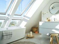 Takvindu: Dette er de største fordelene - Byggmakker Attic, Bathtub, Google Search, Lofts, Standing Bath, Bath Tub, Attic House, Tubs, Attic Rooms