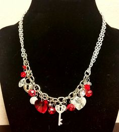 Silver Chain, Charm & Bead necklace....