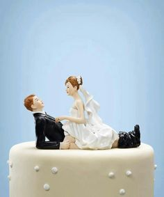 Romantic Dip Couple Cake Topper  Color Options    Bride and Groom     I need this as a cake topper The GQ Guide to Marriage   How to Be a Married  Man