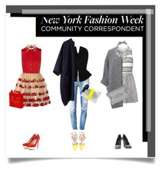 """""""New York Fashion Week correspondant"""" by blueberrylexie ❤ liked on Polyvore featuring 3.1 Phillip Lim, Ghost, Alexander Wang, Vince Camuto, Valentino, Dsquared2, Martin Grant, Clare V., La Garçonne Moderne and Givenchy"""