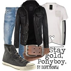 Stay gold, ponyboy from the outsiders by disneybound Disney Bound Outfits, Disney Inspired Outfits, Girl Greaser Outfit, Greaser Style, Pretty Outfits, Cute Outfits, Movie Outfits, Teen Outfits, Estilo Disney
