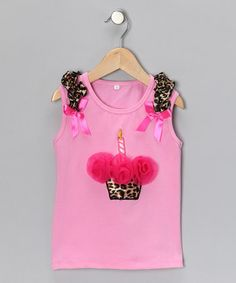 Take a look at this Pink Cheetah Cupcake Tank - Infant & Toddler by Divas & Pearls on #zulily today!