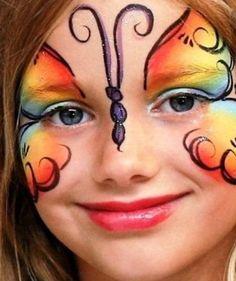 multicolorida-borboleta-fantasia-de-ultima-hora_mais-de-50-ideias-para-pintura-facial-infantil