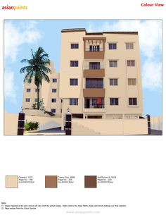 Brown is friendly and approachable. It is loyal, trustworthy and dependable in a practical and realistic way. Asian Paints Colour Shades, Asian Paints Colours, Paint Shades, Color Shades, Exterior Color Combinations, Exterior Colors, Exterior Design, Shade Card, House Paint Exterior