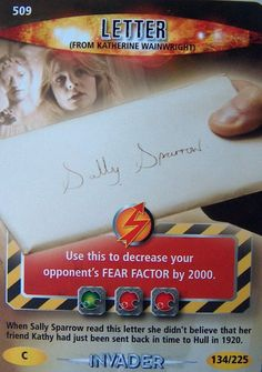 DOCTOR WHO  BATTLES IN TIME TRADING CARD  LETTER(from Katherine Wainwright)509~