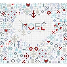 Share the holiday magic with someone special this Christmas with this gorgeously detailed Noel Heart cross stitch kit from Riverdrift House.