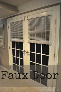Fake Door in a SMALL Space!