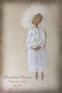 """Купить """"Ангел мир хранящий"""" - авторская кофейная куколка - ангел, ангелочек, ангел-хранитель"""