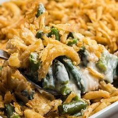 The BEST Homemade Green Bean Casserole Cooking For Keeps. Healthy Green Bean Casserole Recipe With Homemade Fried Onions. The Best Green Bean Casserole Recipe Ever. Large Green Bean Casserole Recipe, Classic Green Bean Casserole, Greenbean Casserole Recipe, Casserole Recipes, Corn Casserole, Wubba Lubba, French Green Beans, Vegetable Dishes, The Fresh