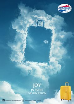 travel campaign American Tourister: Joy in Every Destination 3 Clever Advertising, Advertising Poster, Advertising Design, Advertising Campaign, Ads Creative, Creative Posters, Design Package, Plakat Design, Web Design Trends