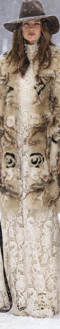 I hope that's fake fur :( Winter bohemian style