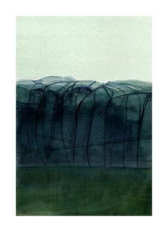 Serie Weather observations, Kökar, Långskär, watercolor, 2018, 36 x 26 cm