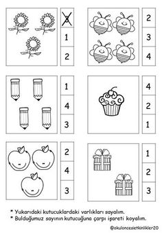 Top 40 Examples for Handmade Paper Events - Everything About Kindergarten Nursery Worksheets, Kindergarten Math Worksheets, Math Literacy, Preschool Learning Activities, Preschool Printables, Preschool Activities, Numbers Preschool, Math For Kids, Math Lessons