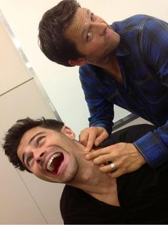 From dicksp8jr / Richard Speight, Jr.: .@mattcohen4real has a nasty pimple. Luckily, there's an esthetician on staff. I'm next up for a wax. #MishaCollins