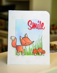 Hello, This week Penny Black has been profiling the Cute and Adorable stamps from the latest release, Bring on the Happy.  I have three cards that were showcased on the blog.  Here is one of them. ...