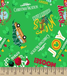 Featuring a cool sporty print, the National Lampoons Christmas Vacation Print Fabric is a perfect choice to decorate a sports fans room. Available in five base materials, you can choose your preferred