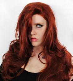 SALE Auburn wig, Red wig, Auburn Lace Front wig, Jessica Rabbit wig, Sexy Mermaid wig, Ariel wig, Cosplay wig // Jessica Rabbit