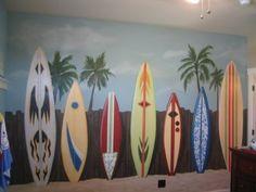 surfboard wallpaper mural  18 best Surf Bedroom images on Pinterest   Surf bedroom, Baby rooms ...