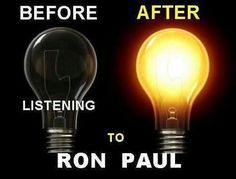 Before and after listening to Ron Paul