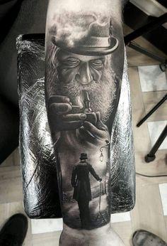 Great use of shading by Luke Sayer #tattoo #art #bodyart