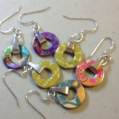 3 pairs of washer earrings I made!