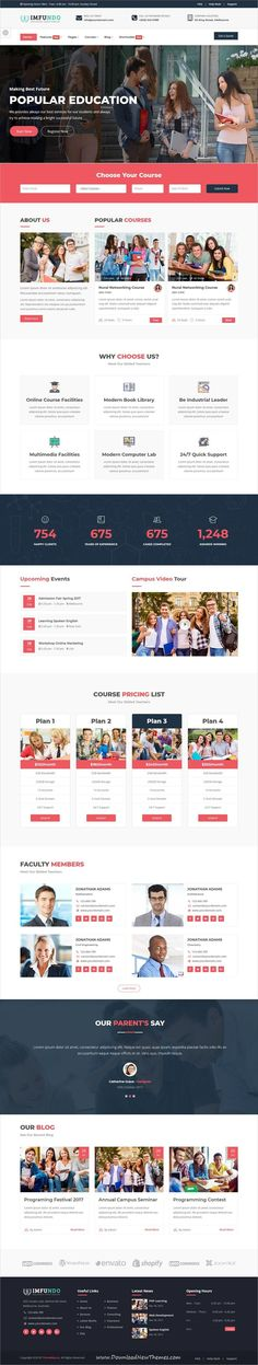Imfundo is clean and modern design 6+ responsive bootstrap HTML #themes for #university, college, online #courses, education and #learning centers website to live preview & download click on image or Visit #webdesigns