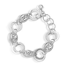 Sterling 925 Silver Circle Link Bracelet with Cirlce Greek-Key Interlocking Design - Incl. ClassicDiamondHouse Free Gift Box & Cleaning Cloth ClassicDiamondHouse. $108.16. A nice treat to satisfy your fashion cravings and for a fashionable friend too!. Exciting design of fine Sterling silver Jewelry to complement your outfit. Order now and receive the item in a durable jewelry pouch with our logo. Enjoy exclusively this latest fashion bracelets beautifully Crafted with Sterling ...