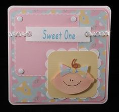 Baby girl card by tomkat6551 on Etsy, $3.00