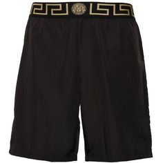 Versace Underwear Men Logo Nylon Long Swim Shorts ($245) ❤ liked on Polyvore featuring men's fashion, men's clothing, men's swimwear, black, mens clothing, versace mens swimwear, men's apparel, versace mens clothing and mens swimshorts