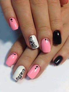 Soft Pink/White to tone down/Edgy  Black