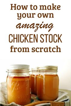 How to make your own AMAZING chicken stock from scratch. Make Chicken Broth, Chicken Broth Recipes, Homemade Chicken Stock, Canned Chicken, Soup Recipes, Chicken Scratch, Best Chicken Stock Recipe, Chicken Bone Broth Recipe, Stock Design