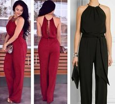 Jumpsuit with halter neckline free sewing pattern plus size Jumpsuit Pattern, Pants Pattern, Clothing Patterns, Dress Patterns, Casual Outfits, Cute Outfits, Diy Clothes, Ideias Fashion, Womens Fashion
