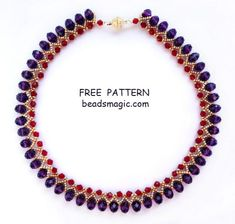 Free pattern for necklace Nino