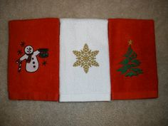 Christmas Teacup Embroidered Towels by LynnsCozyQuilts on Etsy, $14.99