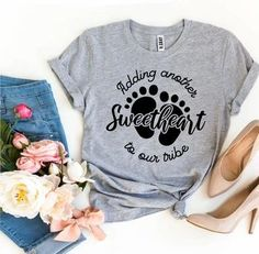 Adding Another Sweetheart To Our Tribe T-shirt - Visionary Creation Co