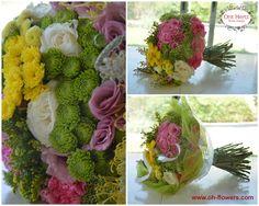 Orit Hertz - Floral Designer אורית הרץ - לימודי עיצוב ושזירת פרחים www.oh-flowers.com Hand Tied Bouquet, Bouquets, Floral Design, Bouquet, Bouquet Of Flowers, Floral Patterns