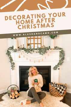 I love the way holiday decorations make my home feel nice and cozy so sometimes it's hard for me to take them down! But I have found four ways to decorate my home all winter with the same cozy feel. And best of all, all of these tips are affordable! #homedecor #holidaydecor #cozyhome #afterchristmas
