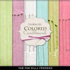 Freebies Background Kit - Colored Cardboard