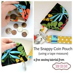 Coin purse using a metal tape measure. http://www.sewcanshe.com/blog/2013/4/6/the-snappy-coin-pouch-free-tutorial-from-sewcanshe