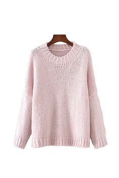 'Lisa' Chunky Knit Oversized Crewneck Sweater from Goodnight Macaroon