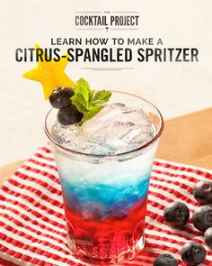 Backyard barbecues just got a star-spangled makeover with this patriotic citrus spritzer. Vibrant red, white and blue hues make it stand out from other 4th of July cocktails. Simply layer ingredients for a striking drink that will please any crowd, even in summer heat. Discover how to make it at TheCocktailProject.com