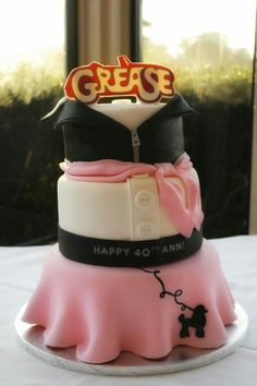 Grease Themed Birthday Cake                                                                                                                                                                                 More