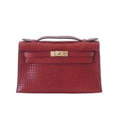 HERMES Kelly Pochette matte alligator Rouge H gold hardware Hermes Box,  Hermes Handbags, Fashion 440d14be45
