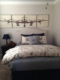 1000 images about aircraft decor on pinterest aviation for Boys airplane bedroom ideas