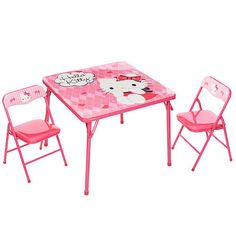 """Hello Kitty Little Miss Sassy Activity Table and Chairs Set - Franco Mfg  - Babies""""R""""Us"""