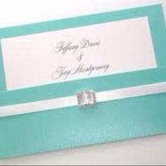 I love the blue with silver!! Love these as invitations!