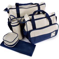 5tlg. groß Geräumig Baby PflegetascheWickeltasche Babytasche Kindertasche Set in Baby, Pflege, Wickeltaschen & Rucksäcke   eBay!