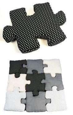 Almohadas rompecabezas... #DiseñaTuVida