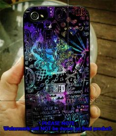 All time low art galaxy 4/4s,5/5s/5c, Samsung Galaxy s3/s4 Case